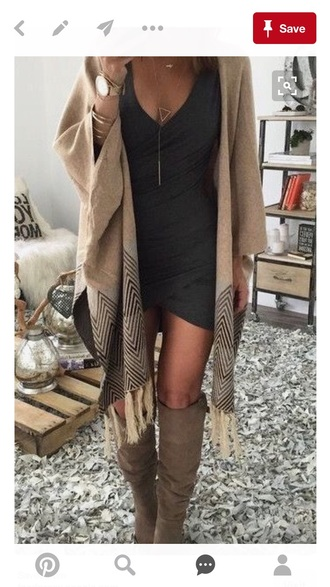 sweater fall sweater long boots cardigan fall outfits dress sexy long boots