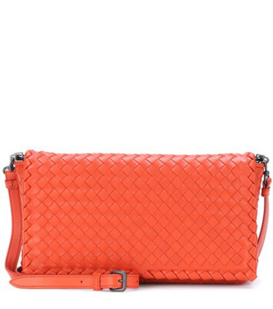 Bottega Veneta bag shoulder bag leather orange
