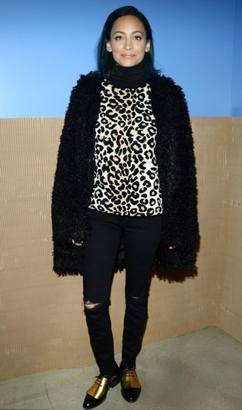 pants nicole richie coat fall outfits fur