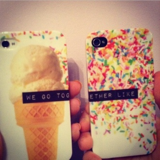 jewels iphone phone cover friends bff ice cream sprinkles