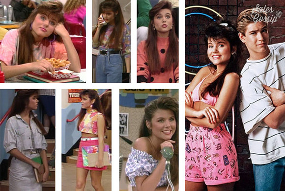 90's blouse tiffany theissin kelly kapowski saved by the bell