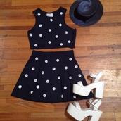 dress,matching set,twosie,daisy,set,vintage,her pony,herpony,festival,summer,crop tops