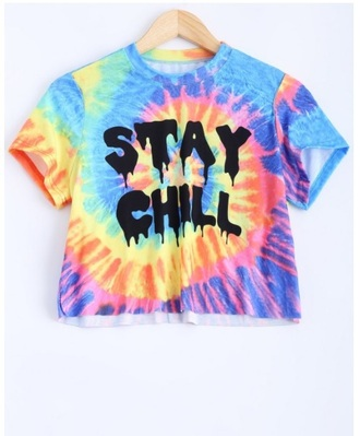 top cropped girly tie dye tie dye shirt tie-front top crop tops crop