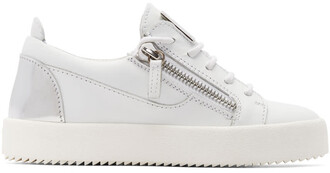 london sneakers silver white shoes