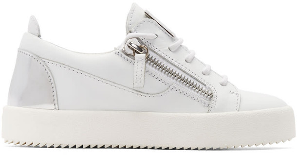 Giuseppe Zanotti london sneakers silver white shoes