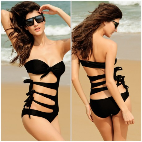 Black Hollow Up Bikini lml5019A - lol-malls - Trustful Online Shopping for Women Dresses