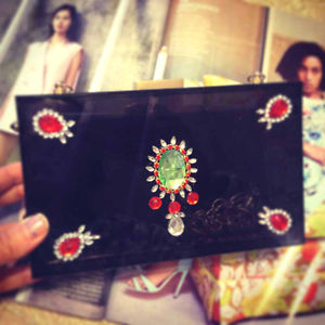 Transparent Crystal Minaudiere Box Clutch Eveningbag Stunny Indian Brand Bags | eBay