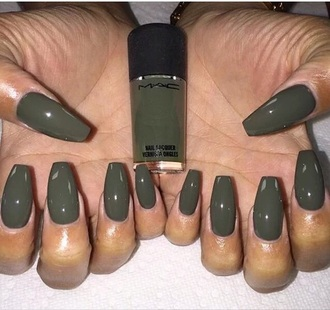 nail polish mac cosmetics olive green