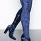 Blue denise suede boot