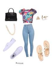 jeans,top,bag,shoes,jewels,t-shirt,blouse,dress,pants