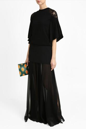 skirt long skirt long women black