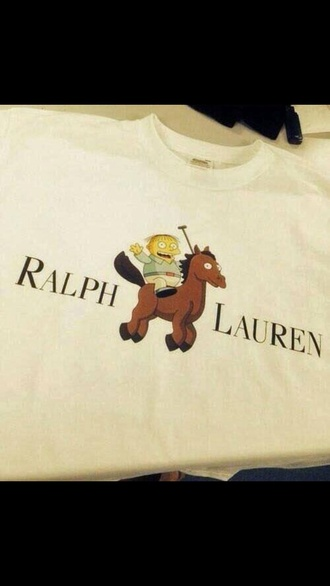 t-shirt the simpsons ralph lauren asap