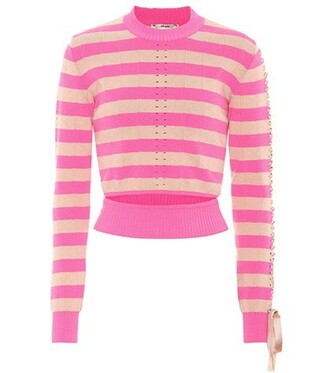 top striped top knit