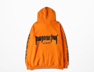 sweater orange hoodie purpose tour