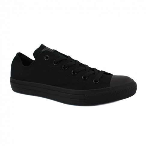 Converse Chuck Taylor All Star Mens Laced Canvas Trainers Black Black
