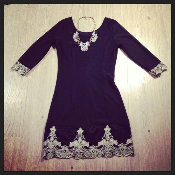 dress black little black dress lace lace dress bodycon dress bodycon dress gold jewels