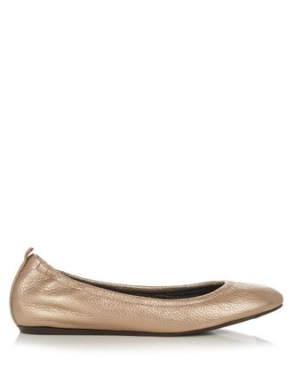 metallic ballet flats ballet flats leather bronze shoes