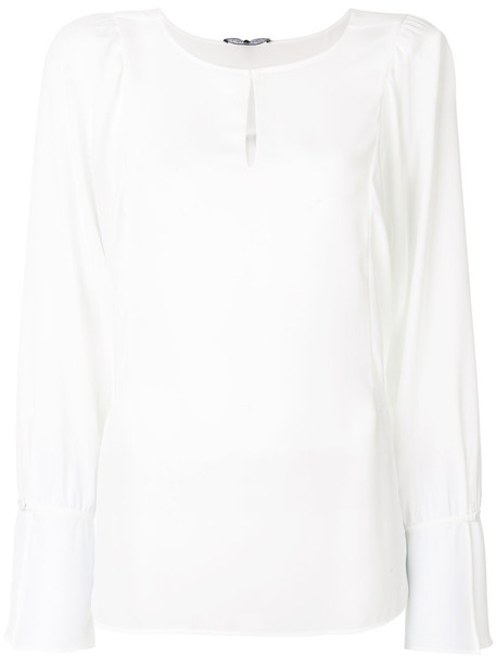 Luisa Cerano blouse open women white top