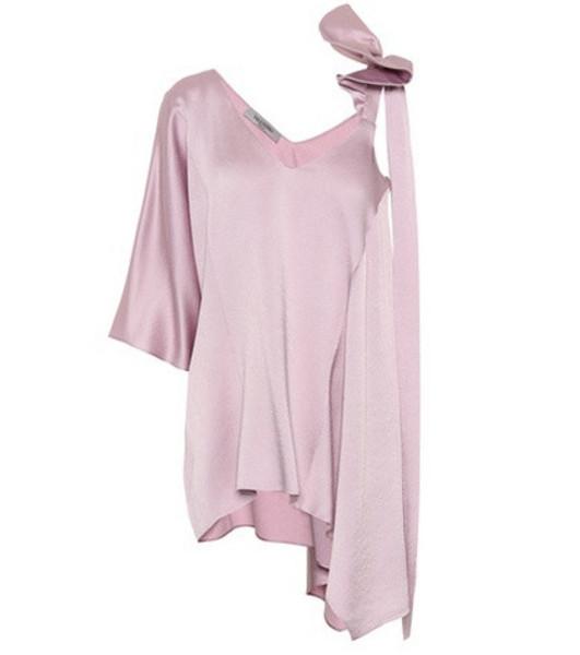 Valentino Satin asymmetric top in pink