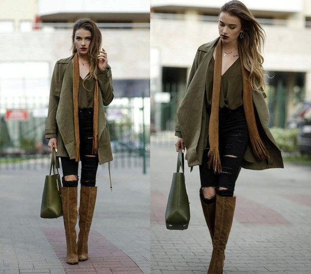 black suede boots outfits - photo #19