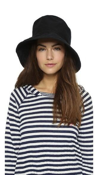 hat bucket hat cotton black