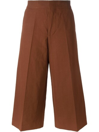 culottes classic brown pants