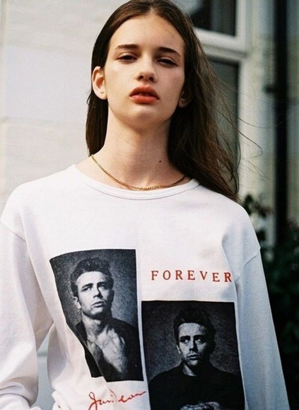 forever sweater white james dean