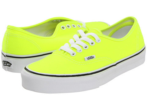 Vans Authentic™ (Neon) Yellow/True White - Zappos.com Free Shipping BOTH Ways | Yeay.me
