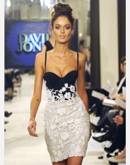 lace dress black white dress floral