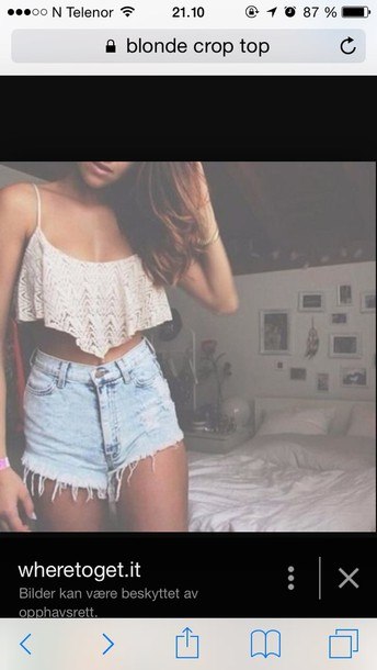 shirt shorts light blue denim frayed shorts tank top