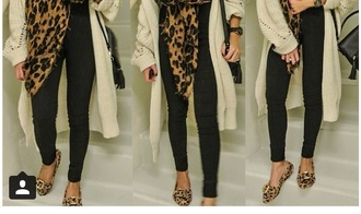 shoes print leopard print flats brown shoes cute girly