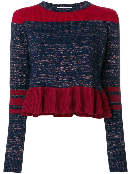 Isabelle Blanche top knitted top women fit blue
