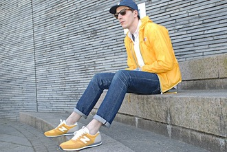 shoes yellow shoes sneakers new balance yellow