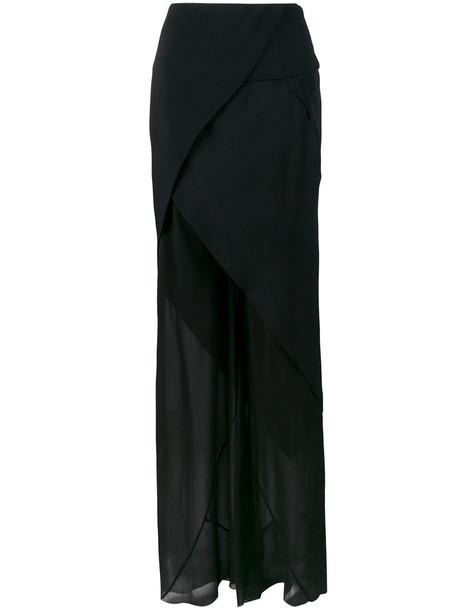KITX skirt sheer women black silk