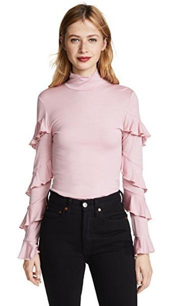 Nicholas turtleneck rose pink sweater