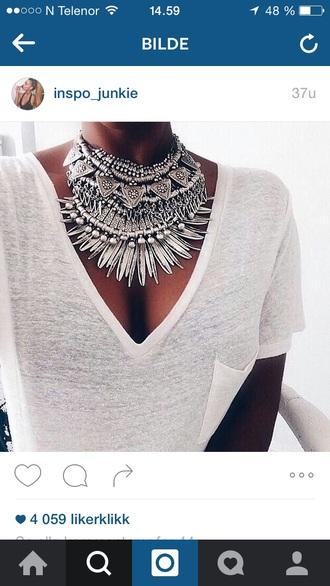 jewels jewelry boho jewelry grey white pretty girly girl summer outfits summer outfit outfit idea