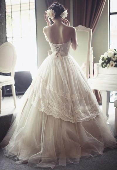 beautiful wedding dress omg love