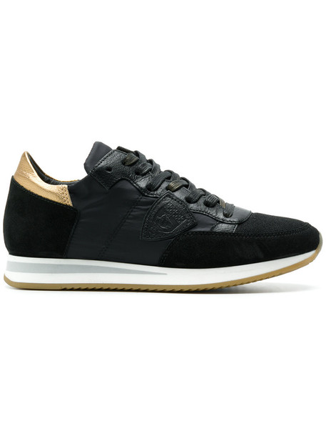 Philippe Model women sneakers leather black shoes