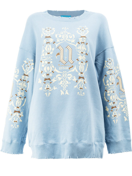 UNDERCOVER sweatshirt women cotton blue sweater