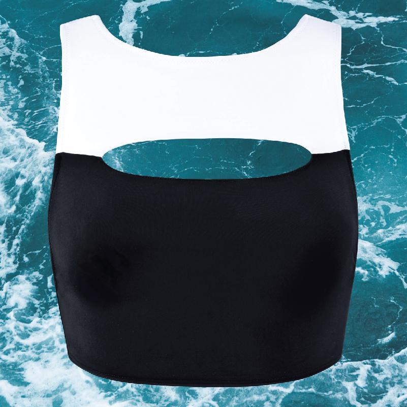 HEPWORTH Top Bathing Suit Black