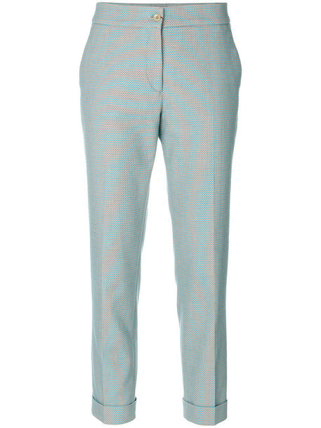 ETRO women spandex cotton blue pants