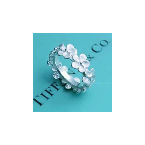 tiffany tiffany&co flowers ring mini flowers jewels