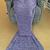 Mermaid Tail Blanket Crochet - Adult (Purple)