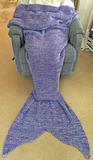 Mermaid Tail Blanket Crochet - Adult (Purple)