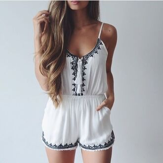 romper boho lace dress white lace tanned skinny