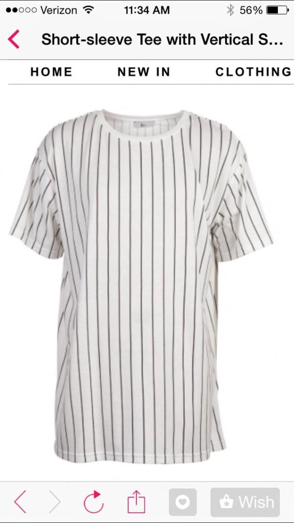 white t-shirt black stripes