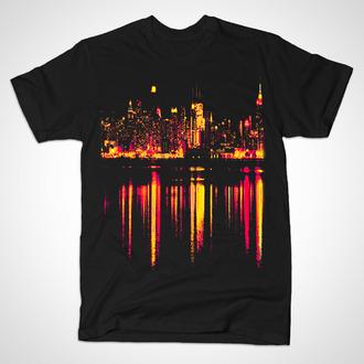 shirt city melting city melting shocking yellow night city shocking pink
