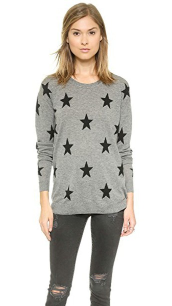 Zoe Karssen sweater loose fit stars grey