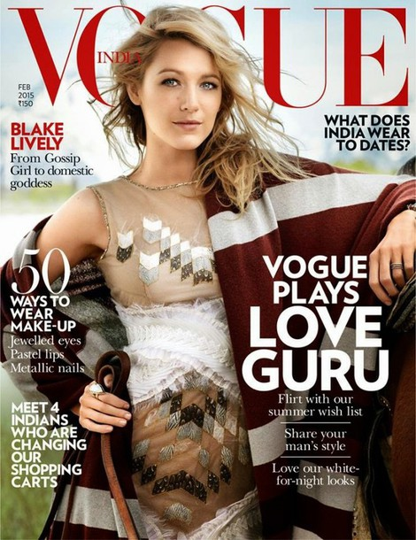 dress blake lively couture dress blonde hair celebrity style vogue editorial poncho embroidered