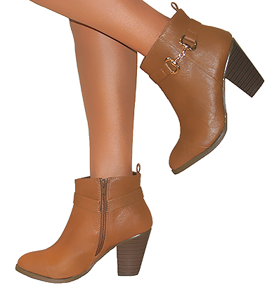 WOMENS LADIES BROWN TAN CHELSEA ANKLE BOOT SHOE LOW MID BLOCK HEEL ZIP UP 3-8